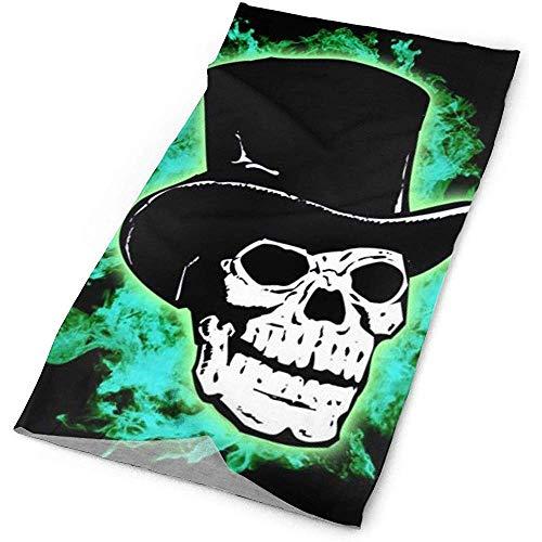 Halloween Scary Horror Green Skull Schwarz Stirnband - Sport Headwear Bandana Headwrap Nackenschutz Sturmhaube Helm Liner Gesichtsmaske -