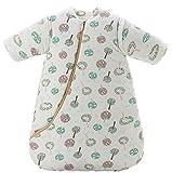 Jaimelavie Baby 3.5 Tog Winter Schlafsack ganz soft Kleine Kinder Schlafanzug mit abnehmbar Langarm aus Baumwolle, Bunt Baum, 80/Koerpergroesse 75-85cm