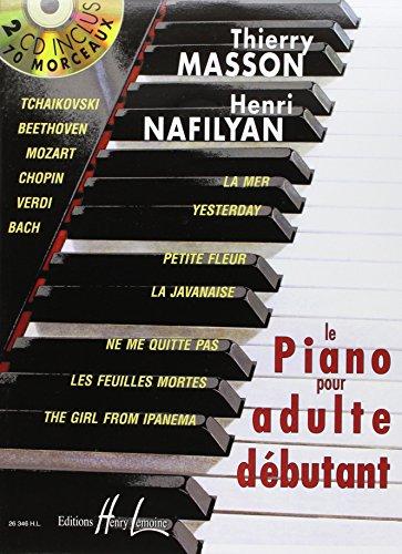 Piano pour adulte débutant avec 2 CD par Thierry Masson