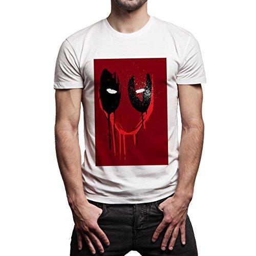 Deadpool-Image-Red--Background.jpg Herren T-Shirt Weiß