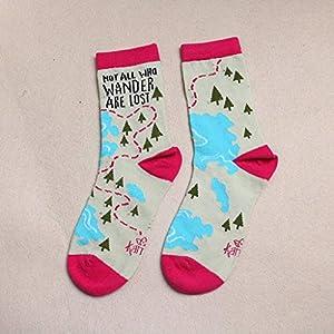 FANRUOM Socken Lustige weibliche Kunstsocken der glücklichen Sockenbaumwollweichen Socken schöne kurvenmänner