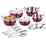 #5: Classic Essentials Stainless Steel Handi Set of 5 With 5 Serving Spoon