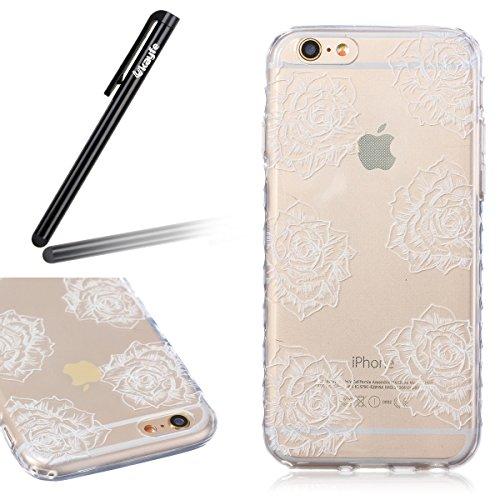 Ukayfe iPhone 6 Plus Coque, iPhone 6 Plus / 6s Plus Silicone Coque Classique Anti-choc Combo Housse Anti-poussière Etui Protecteur Ultra mince Case Cover Housse de Protection Cas en caoutchouc Souple  Rose
