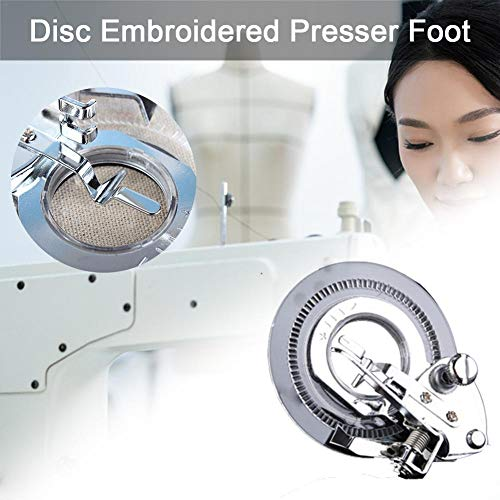 Free-motion Darning Quilting Sewing Machine Presser Foot Husky Series White Kenmore by GOLDSTAR BRAND Janome Brother Fits All Low Shank Singer Elna and More Juki Bernina Bernette Series Simplicity Viking Babylock Euro-pro New Home