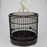 Pet Online En forma de jaula de madera maciza de palisandro ronda en forma de jaula, marrón