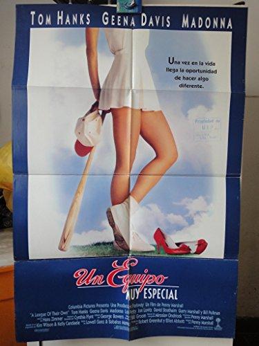 Original Spanish Movie Poster A League Of Their Own Un Equipo Muy Especial Tom Hanks Geena Davis Madonna - Davis Movie Poster