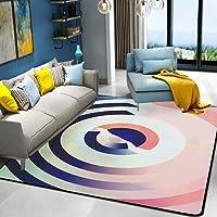 HYRL Alfombra nórdica Abstracta geométrica, 3D Impreso Alfombra de Gran tamaño para casa Moderna Vida Alfombra Espesar Sala de Estar alfombras Arte Decor,#8,80160