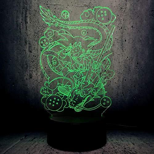 Nachtlicht Usb Dragon Ball Sohn Wukong Monkey Boy 3D Lichter Geburtstagsgeschenk Cartoon Charakter Licht Kindergeschenke