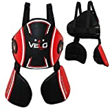 VELO Belly Protector Body Pad Armour Guard Chest MMA Muay Thai Boxing Training Red-Black