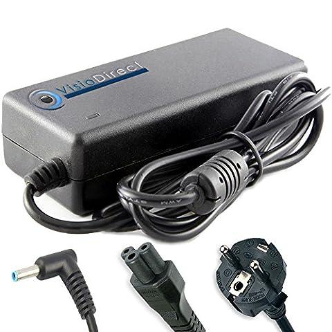 Alimentation pour pc portable HP COMPAQ 740015-004 90W 19.5V 4.62A Adaptateur Chargeur - Visiodirect -