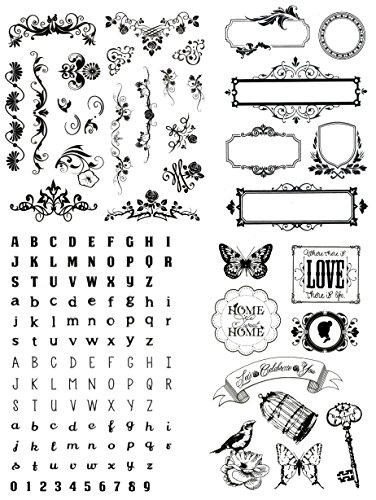 be fancy! Silikonstempel Set - Clear Stamps - Stempel - 144 Motive, Teile - transparent -