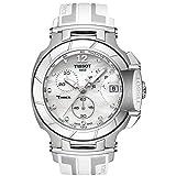 Tissot Damen-Armbanduhr Armband Kautschuk Weiß Gehäuse Edelstahl Schweizer Quarz T0484171711600