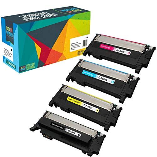 4 Do it Wiser Kompatible Toner CLT K404S für Samsung C480W C480FW C430W C430 C480 C480FN - CLT Y404S CLT C404S CLT M404S