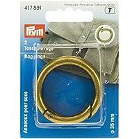 Prym Lot de 2 anneaux en laiton pour sac Effet ancien 35 mm