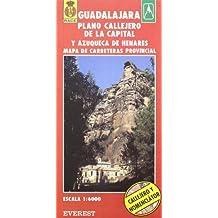 Guadalajara y Azuqueca de Henares. Plano callejero y mapa de carreteras: Plano callejero. Mapa de carreteras provincial (Planos callejeros / serie roja)