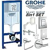 GROHE Rapid SL Cadre WC Fresh 8en 1de Chasse d'Eau Skate Plaque Chrome 38827000