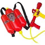 TurnRaise Pompier Sac à dos eau Pistolet Blaster avec Feu Hat-Water Gun Plage Jouets et Sports de Plein Air Jouets