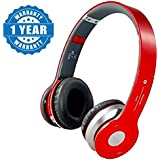Captcha Red S450 Foldable On-ear Wireless Stereo Bluetooth Headphones Supports MP3, FM & TF Card Reader Suitable With All Android Or Iphone Devices (1 Year Warranty, Color May Vary)