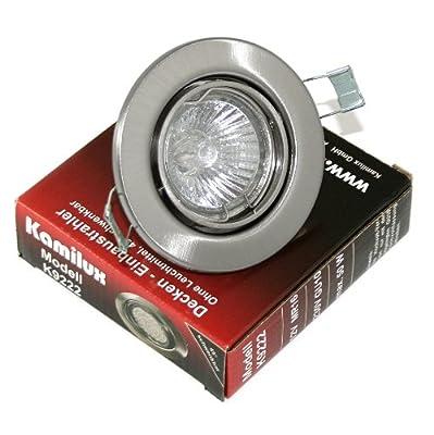 Einbaustrahler / Spot Tom edelstahl-gebürstet 230V inklusive Halogenleuchtmittel in 35 Watt von Kamilux bei Lampenhans.de