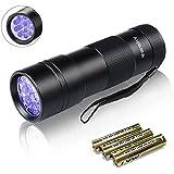 Vansky UV Taschenlampe Schwarzlicht 12 LED Ultraviolett Detektor