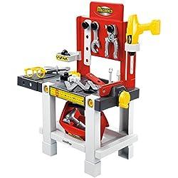 Jouets Ecoiffier - 2406 - Établi + outils pour enfants Mecanics - Jeu de bricolage - 23 pièces - Dès 18 mois - Fabriqué en France