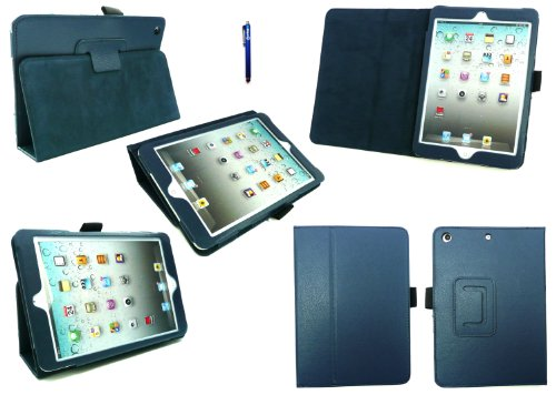 Emartbuy® Apple Ipad Mini 4 Tablet Blau Eingabestift + Blau PU Leder Multifunktions / Multi Angle Wallet / Abdeckung / Stand / Typing Fall