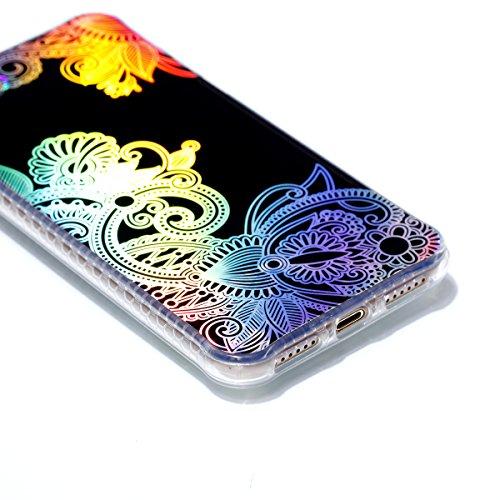 iPhone 8 Custodia, iPhone 7 Custodia, iPhone 8/iPhone 7 Cover, JAWSEU Bella Luminoso [Shock-Absorption][Anti Scratch] Protectiva Bumper per iPhone 8/iPhone 7 Cristallo Chiaro Cover Case Caso Ultra Sot Totem #1
