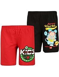 dongli Boys Pretty Printed Shorts (Pack of 2)
