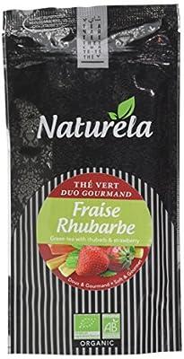 NATURELA Thé Vert Fraise Rhubarbe 80 g - Lot de 6