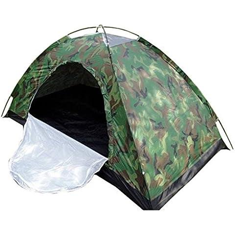 Kry portátil tienda de campaña para camping ultraligero camuflaje Tiendas de campaña Cálido Ventilación Waterpoof windpoof exterior Single