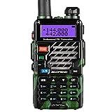 Baofeng UV-5R Plus 2m/70cm walkie Talkie portatil Radio Aficionado, Doble Banda VHF/UHF y 128 Canales de Memoria (Camuflaje)