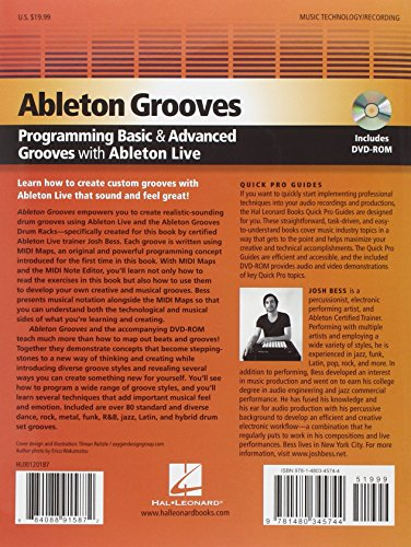 Ableton Grooves: Programming Basic and Advanced Drum Grooves with Ableton Live (Quickpro Guides)