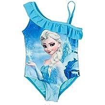 c8ae4e3477e1 Costume da Bagno - Elsa - Adatto a Bambina - Colore Azzurro - Intero  Monospalla