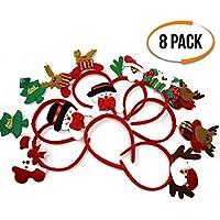 The Twiddlers 8er Pack Weihnachten Saisonale Dekoration Stirnbänder Haarschmuck - Festliche Kopfschmuck für jedes Alter! - Ideal für Weihnachtsfeiern, Dekorationen, Strumpfüllungen und mehr.