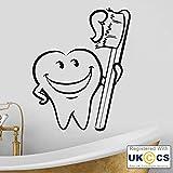 Bürsten-Zahn-Zahnarzt Badezimmer Kinderwand-Kunst-Aufkleber-Abziehbilder Vinyl-Hauptraum-Dekor-Schlafzimmer Junge Mädchen Kinder Erwachsene Heim Wohnzimmer Zitate Küche Badezimmer Wandaufkleber