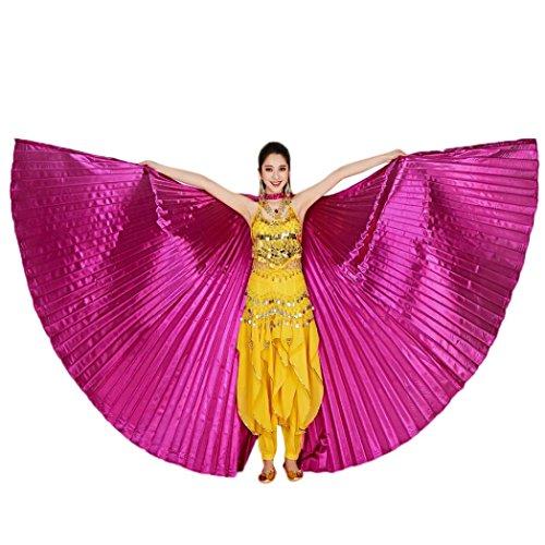 n Egypt Belly Wings Dancing Costume Belly Dance accessories No Sticks Ägypten Bauch Flügel Tanz Kostüm Bauchtanz Zubehör Keine Sticks (142CM, Hot Pink) (Isis Baby Kostüm)