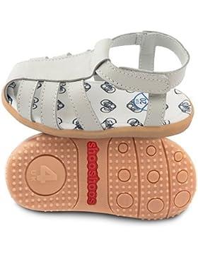 ShooShoos - Zapatitos de piel suela dura, sandalias gris