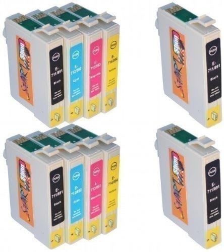 epson stylus bx300f Start - 10 Ersatz Chip Druckerpatronen kompatibel zu T0711, T0712, T0713, T0714 für Epson für Epson Stylus D120, D78, D92, DX4000, DX4050, DX4400, DX4450, DX5000, DX5050, DX5500, DX6000, DX6050, DX7000F, DX7400, DX7450, DX8400, DX8450, DX9200, DX9400F, Office B40W, BX300F, BX310FN, BX510W, BX600FW, BX610FW, S20, S21, SX100, SX105, SX110, SX115, SX200, SX205, SX210, SX215, SX218, SX400, SX400 WiFi, SX405, SX405 WiFi, SX410 ,SX415 ,SX417 ,SX510W ,SX515W ,SX600FW, SX610FW