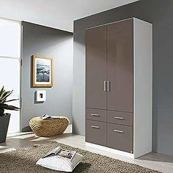 Kleiderschrank hochglanz weiß 1 Tür B 47 cm Schrank Drehtürenschrank ...