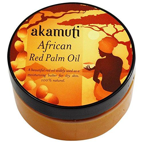 AKAMUTI Rotes Palmöl - Vitaminreiche Pflege für trockene Haut - Besonders reich an Carotinoid - Unraffiniert und natürlich