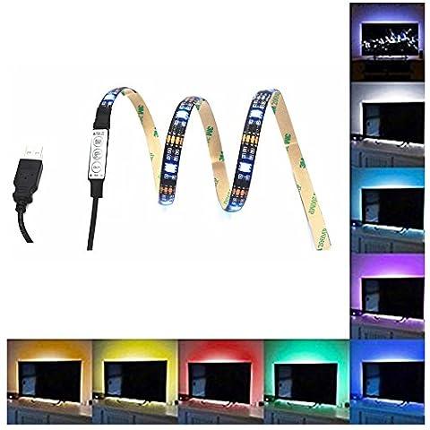 EONPOW RGB TV Hintergrundbeleuchtung USB Led Lichtband, 100cm/ 39.4inch TV