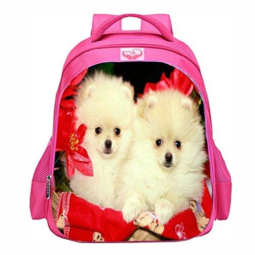 Moolecole Schule Taschen Mädchen Kinder Buchbags Rucksack Tiere Kitty Cartoon Rucksack cat1