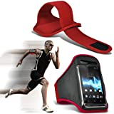 ( Red ) Samsung I9300I Galaxy S3 Neo Universal Sports Lauf Jogging Ridding Bike Cycling Gym Arm-Band-Kasten-Beutel-Abdeckung von Spyrox