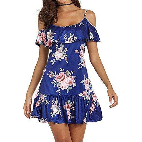 Sanfashion bekleidung -  vestito - triangolo - senza maniche - donna blau small