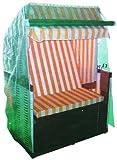 Schutzhaube für Strandkörbe grün 120x155x90cm extrem stark und reißfest