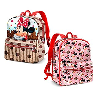 Karactermania Minnie Mouse Muffin Mochila Infantil, 31 cm, Marrón