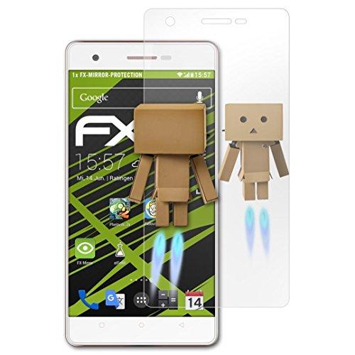 atFolix Bildschirmfolie kompatibel mit Oukitel C4 Spiegelfolie, Spiegeleffekt FX Schutzfolie