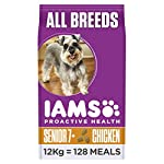 Iams ProActive Health Complete and Balanced Senior Dog Food with Chicken for All Breeds, 12 kg 4