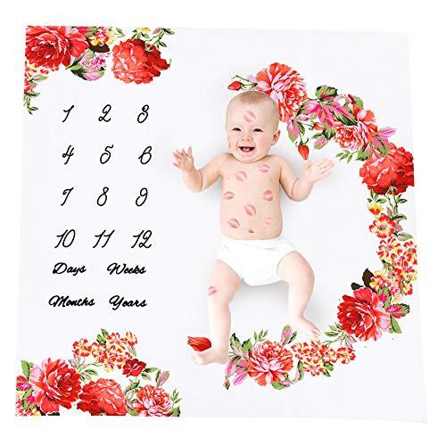 Forart Meilen Stein Decke/Baby Meilenstein Decke große Babydecken für Mädchen und Jungen Neugeborenen Fotografie Hintergrund Baby monatliche Decke Dusche Geschenke -