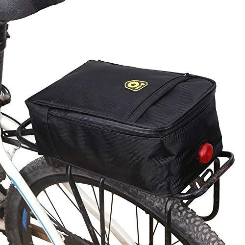 borsa bauletto portapacchi per bicicletta con fanale posteriore, borsa portabagagli per bicicletta impermeabile, mountain bike mtb bici bici sport ciclismo borsa sedile posteriore impermeabile